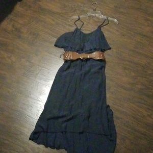 Maurices high low belted dress